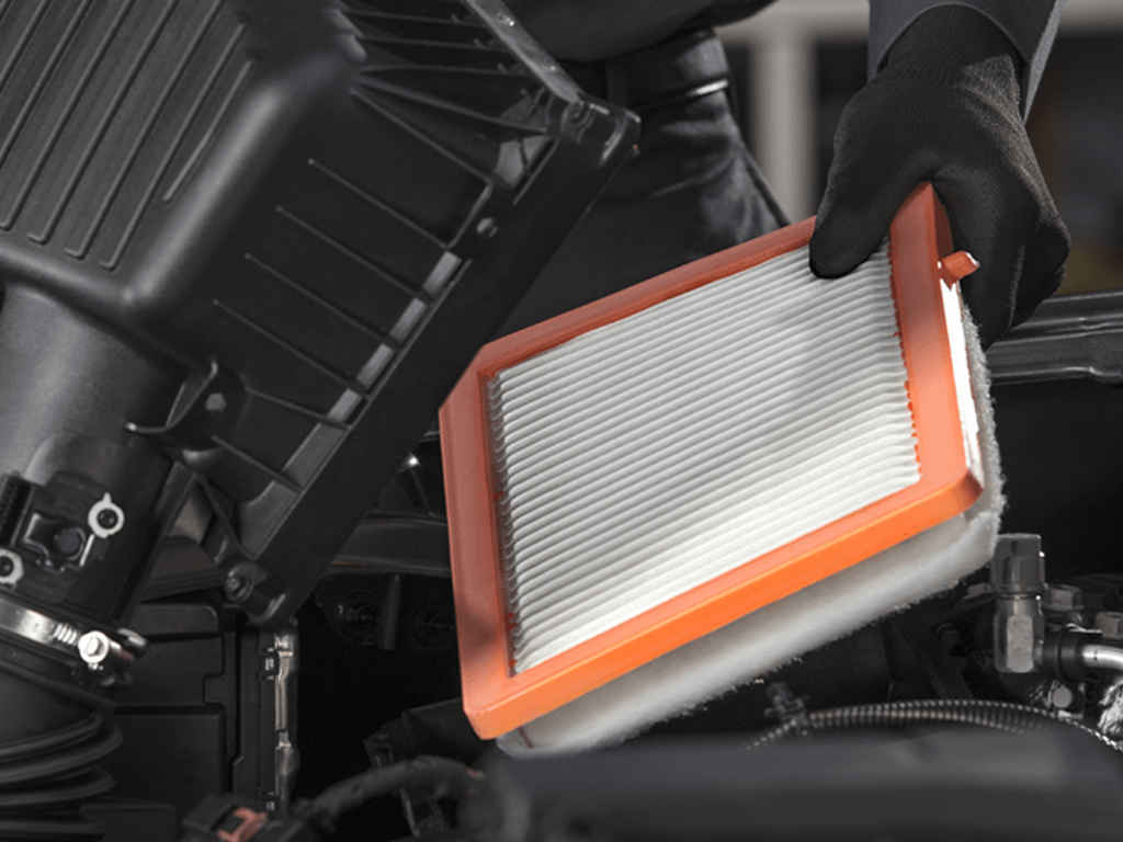 ACDelco Engine Air Filter held by technician