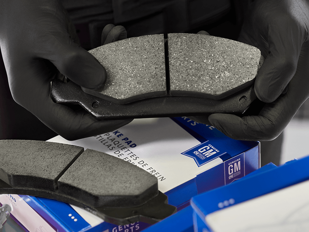 ACDelco Brake Pads held by techician